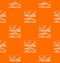 broken glass pattern seamless vector image