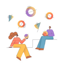 business peoples remote team work teamwork a vector image