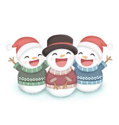 Christmas snow man vector