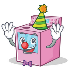 Clown gas stove character cartoon vector