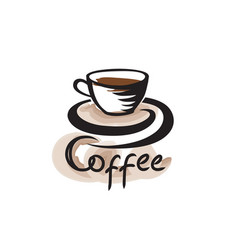 Coffee cup cafe vintage poster banner sign coffee vector