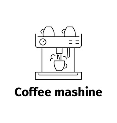 Coffee maker icon line style vector image