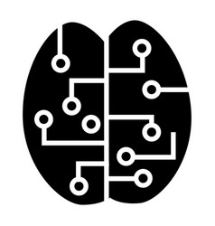concept brain smart icon simple style vector image