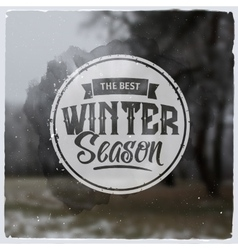 Creative graphic logo message for winter design vector