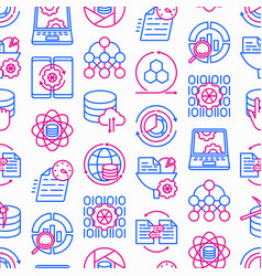 data processing seamless pattern vector image