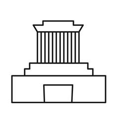 Design building and mausoleum logo set vector