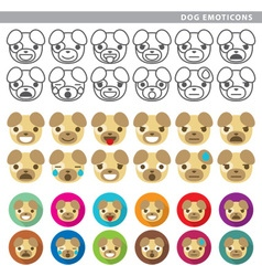 Dog emoticons vector