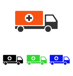 Drugs shipment flat icon vector