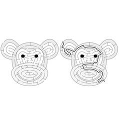 Easy monkey maze vector