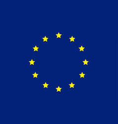 European flag union europe symbol blue flag vector