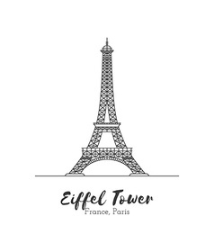 European landmark in thin line vector image