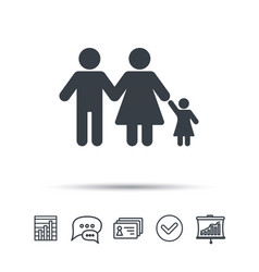 Family icon father mother and child sign vector