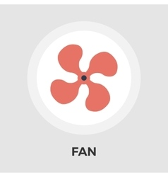 Fan flat icon vector
