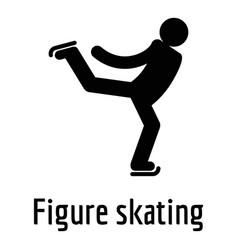 Figure skating icon simple style vector