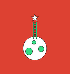 Flat icon design collection planet and ladder vector