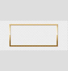 Golden frame vector