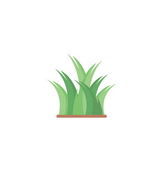 green grass icon design template isolated vector image