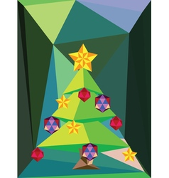 Green Polygonal Christmas Tree3 vector