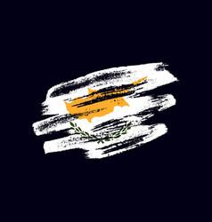 Grunge textured cypriot flag vector