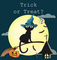 Halloween background with trick or treat text vector