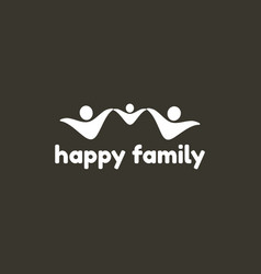 happy family logo template vector image