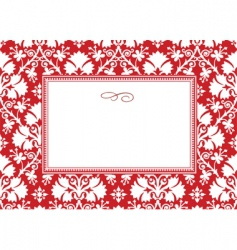 holiday leaf pattern and frame vector image