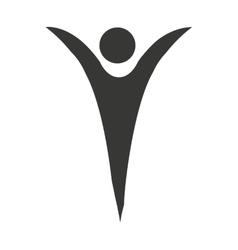 human figure silhouette icon vector image