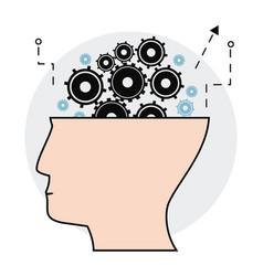 human head gears creativity image vector image