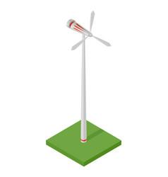 Isometric wind turbine concept clean energy vector