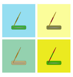 Javelin throw set vector