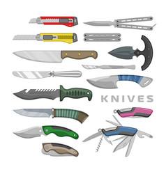 knife penknife steel tool metal blade vector image