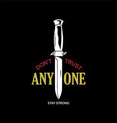knife phrase print vector image