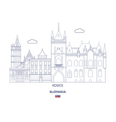 Kosice city skyline vector