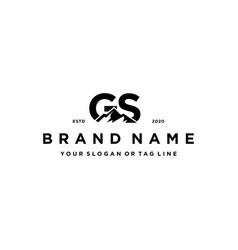 Letter gs mountain logo design vector