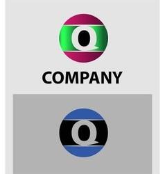 Letter Q logo Icons Set Graphic Design vector
