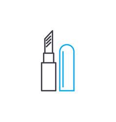 lipstick thin line stroke icon lipstick vector image