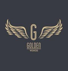 Luxury golden wings vector