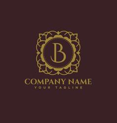 Luxury logo b latter logo vector