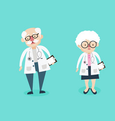 man and woman doctor characters vector image