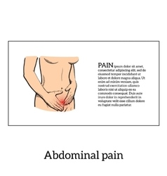 Menstrual pain in the women concept vector