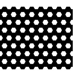Monochrome seamless pattern with hexagons vector