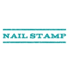 Nail Stamp Watermark Stamp vector