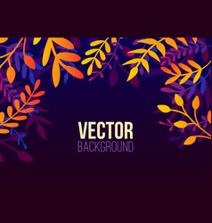natural horizontal background in trendy flat vector image