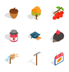 October icons isometric 3d style vector