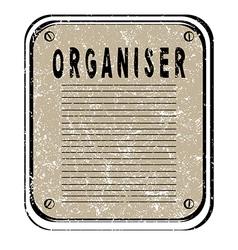 Organiser vector