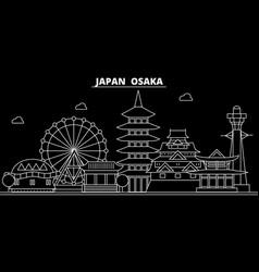 osaka silhouette skyline japan - osaka vector image