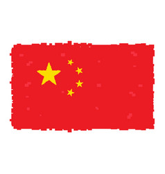 pixelated flag of china vector image