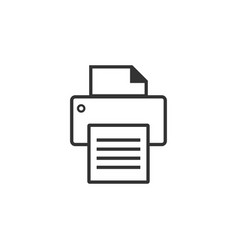 printer graphic icon design template vector image