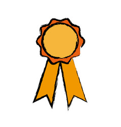 Rosette winner school ribbon award vector