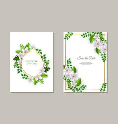Set of tender romantic floral vector